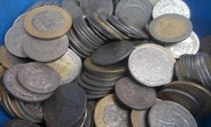 Pièces de monnaie usagées FCFA - crédit Google