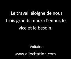 Voltaire travail citation