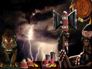 """Shango, """"Dieu"""" Yoruba de la foudre et du tonnerre  Crédit: www.venusvoyance.com"""