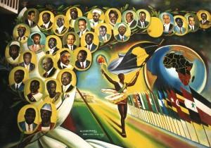 Illustration de la marche vers une grande union panafricaine