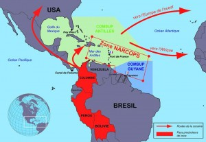 Les Antilles, relais entre l'Afrique et l'Amérique Latine Crédit: http://www.defense.gouv.fr