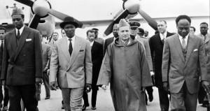 Nkrumah et Mohamed V - Conférence de Casablanca