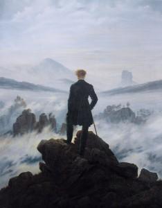 Le voyageur contemplant une mer de nuage - Friedrich Caspar David